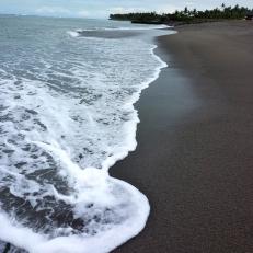 Black sands of Bali
