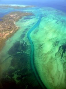 Aerial view en route to Pemba